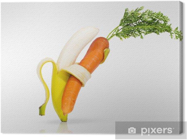 Tableau sur toile Danser pour l'amour de vos fruits et légumes - Repas