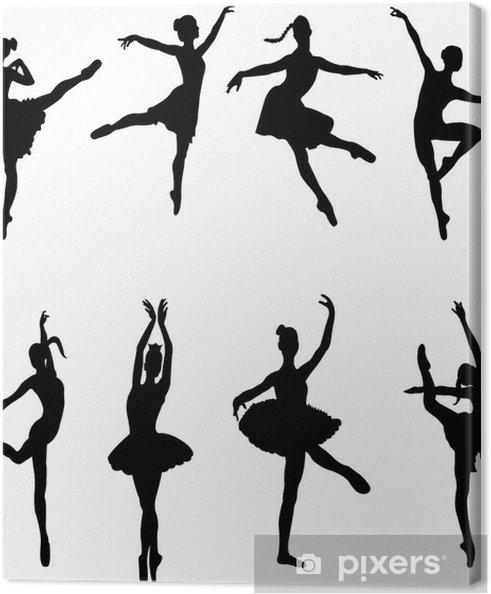 Tableau sur toile Danseurs de ballet - vecteur - Divertissements