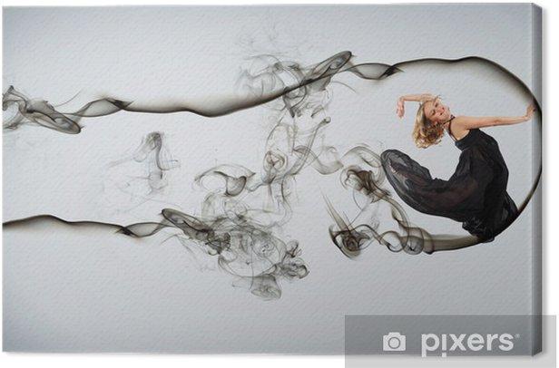 Tableau sur toile Danseuse de style moderne posant - Thèmes