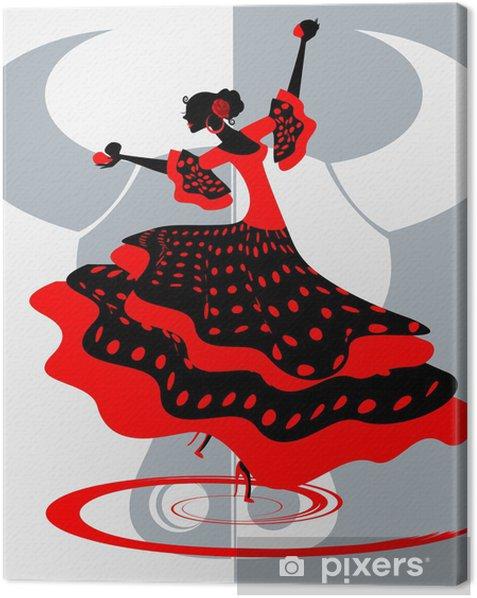 Tableau sur toile Danseuse espagnol - Thèmes
