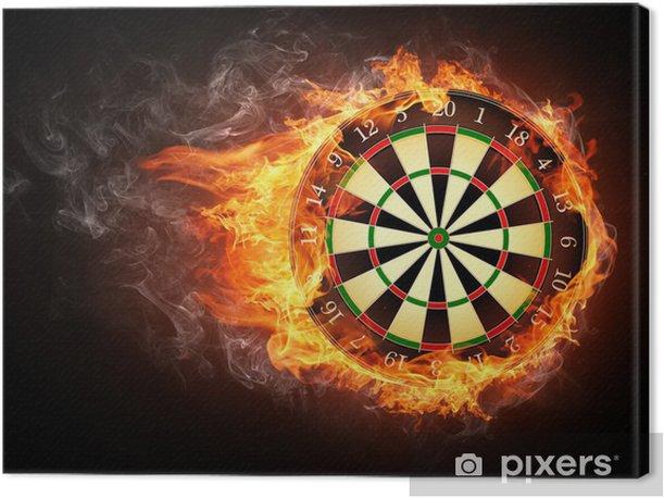 Tableau sur toile Darts Board -
