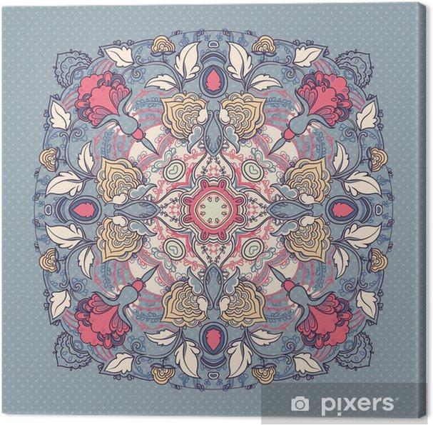 Tableau sur toile De la dentelle autour motif floral - Arrière plans