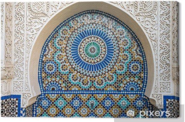 Tableau sur toile Décor de carrelage marocain - Arrière plans