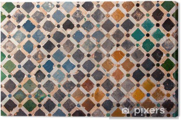 Tableau sur toile Décoration du carrelage, palais de l'Alhambra, Espagne - Arrière plans