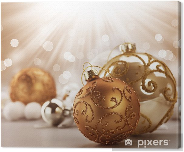 Tableau sur toile Décorations de Noël Vintage - Fêtes internationales