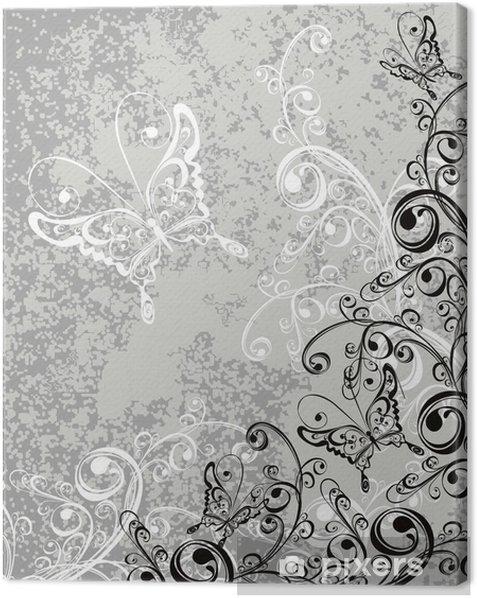 Tableau sur toile Décorations en fleur au fond - Fleurs