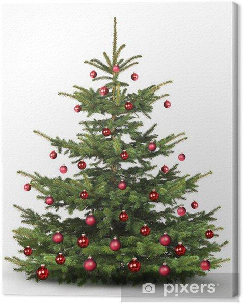 Tableau sur toile Décoré d'arbres de Noël - Fêtes internationales