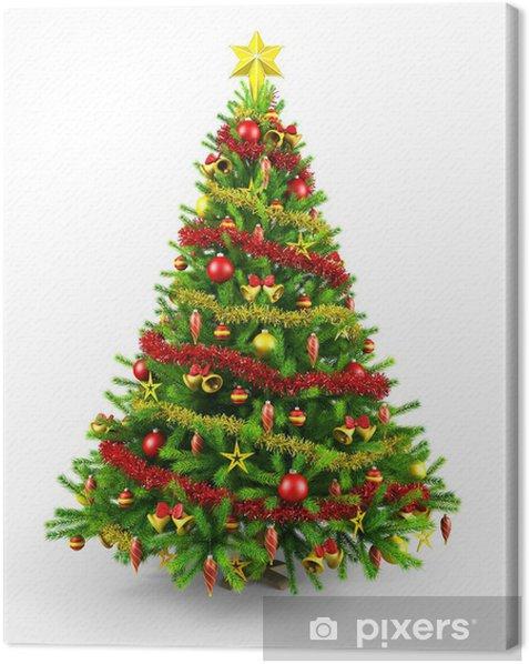Tableau sur toile Décoré l'arbre de Noël - Fêtes