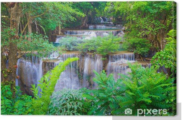 Tableau sur toile Deep forest Waterfall à Kanchanaburi, Thaïlande - Thèmes