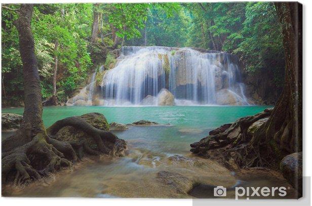 Tableau sur toile Deep Forest Waterfall, Kanchanaburi, Thaïlande - Thèmes