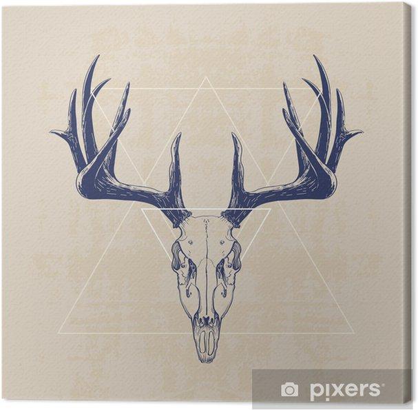 Tableau sur toile deer skull - Mammifères