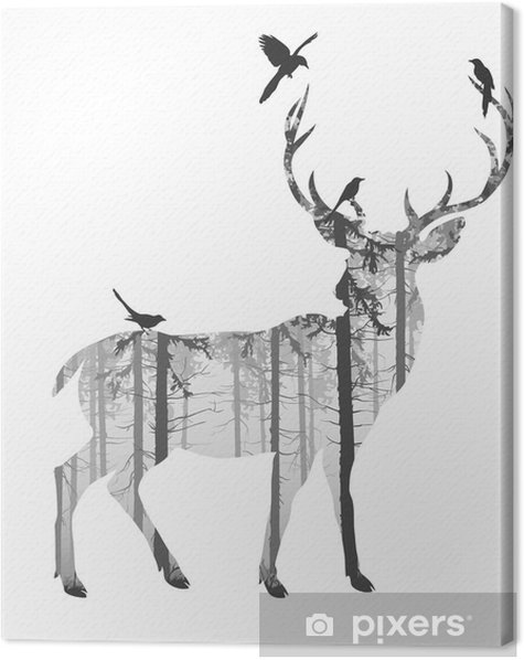 Tableau sur toile deer - Mammifères