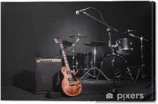 Tableau sur toile Définir des instruments de musique pendant le concert - Musique