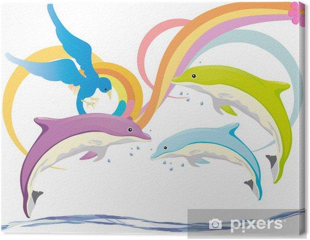 Tableau sur toile Delfiny - Animaux marins