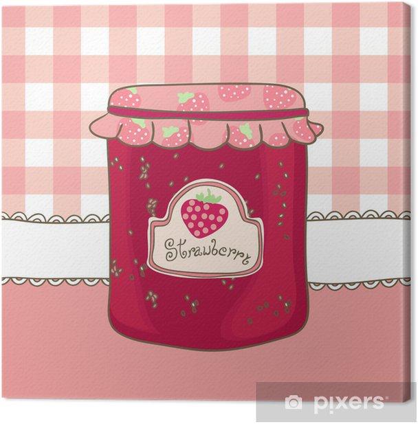 Tableau sur toile Délicieuse confiture de fraises maison - Thèmes
