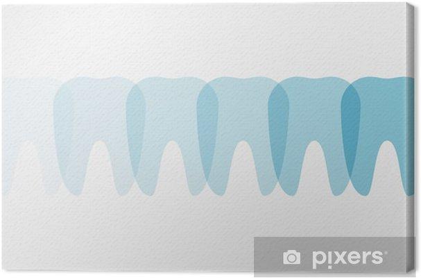 Tableau sur toile Dents - Illustration - Science