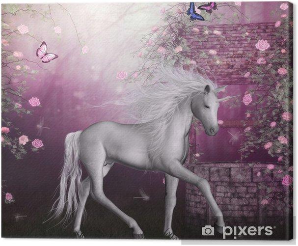 Tableau sur toile Dernière licorne - Thèmes