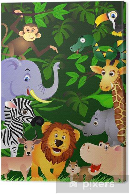 Tableau sur toile Des animaux dans la jungle - Pour enfant de 5 ans