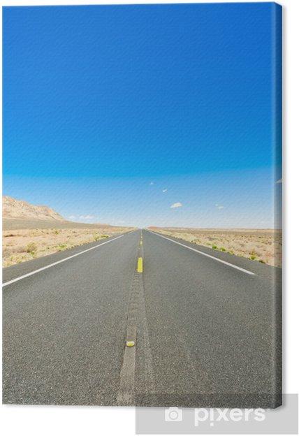 Tableau sur toile Desert route - Campagne
