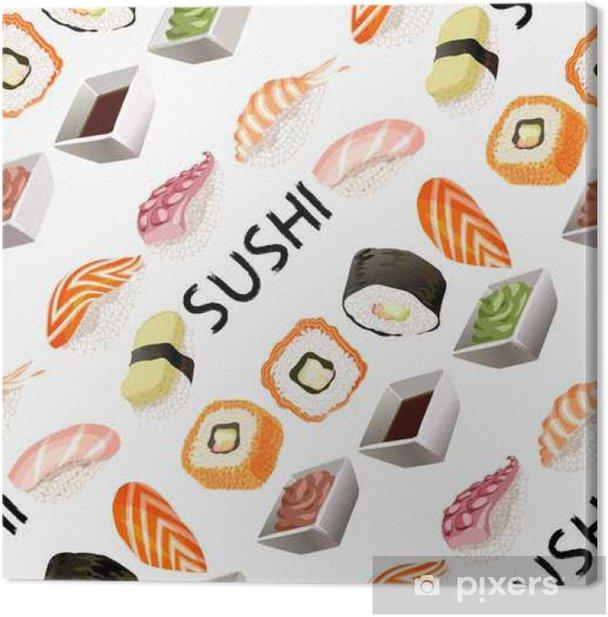 Tableau sur toile Design Sushi de fond. - Ressources graphiques