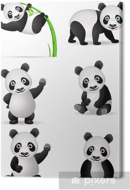 Tableau Sur Toile Dessin Animé Panda