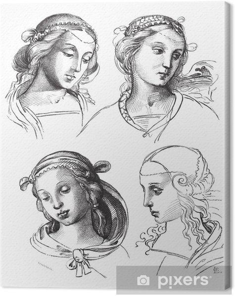 Tableau Sur Toile Dessins A La Plume De Raphael A L Academie Des