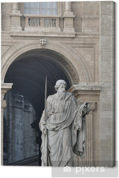 Tableau sur toile Détail architectural de la basilique Saint-Pierre, Cité du Vatican - Villes européennes