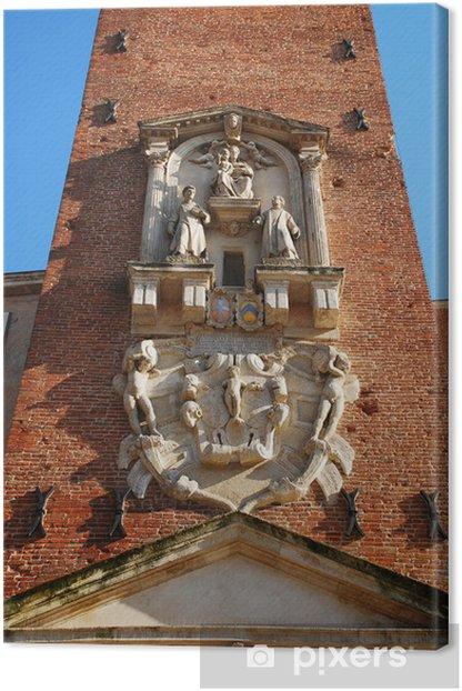 Tableau sur toile Détail sur la Tour de l'Horloge Basilique palladienne - Europe