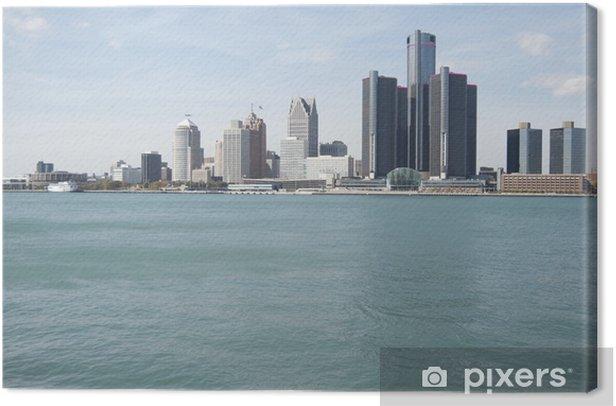 Tableau sur toile Detroit skyline - Amérique