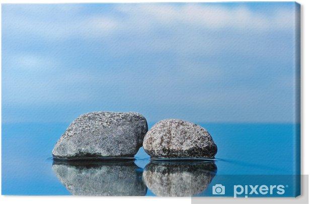 Tableau sur toile Deux pierres d'entrée - Ciel