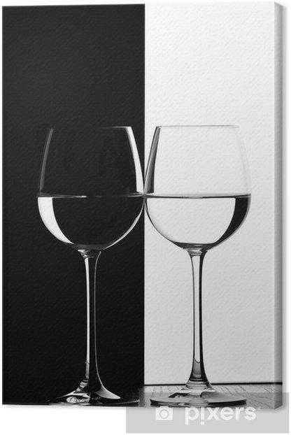 Tableau sur toile Deux verres de vin - Vin