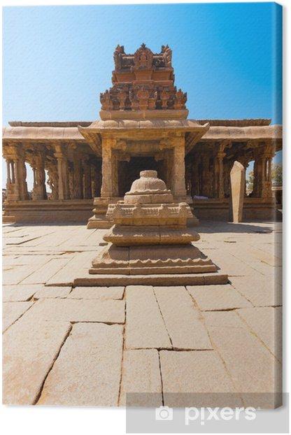 Tableau sur toile Devant la cour de pierre Sri Krishna Temple Hampi - Asie