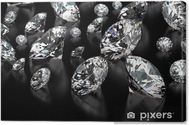 Tableau sur toile Diamants - Styles
