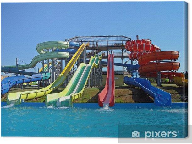 Tableau sur toile Diapositives Aquapark, Sébastopol, la Crimée - Divertissements