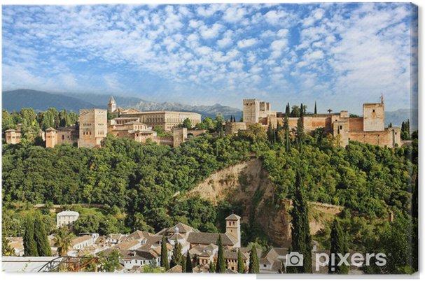 Tableau sur toile Die Alhambra de Grenade, Spanien - Thèmes