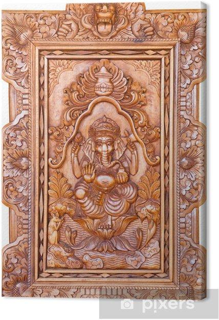 Tableau sur toile Dieu hindou Ganesh - Signes et symboles