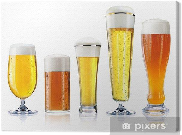 Tableau sur toile Différents types de bière - Alcool