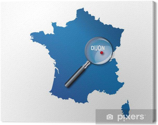 Tableau sur toile Dijon: Carte de France - département de la Côte-d'or • Pixers® - Nous vivons ...
