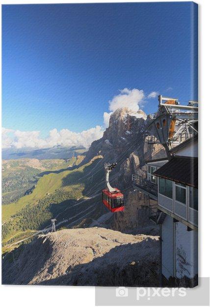 Tableau sur toile Dolomiti - vue aérienne du sommet Rosetta - Europe