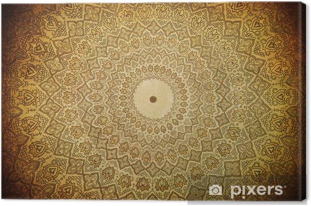 Tableau sur toile Dôme de la mosquée, ornements orientaux de Samarkand, Uzbekista - Styles