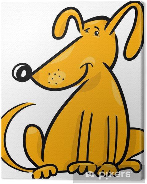 Tableau sur toile Doodle de bande dessinée de chien drôle - Mammifères