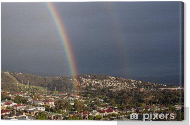 Tableau sur toile Double rainbow - Autres sentiments