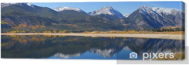 Tableau sur toile Double zone de loisirs des lacs dans le Colorado - Thèmes