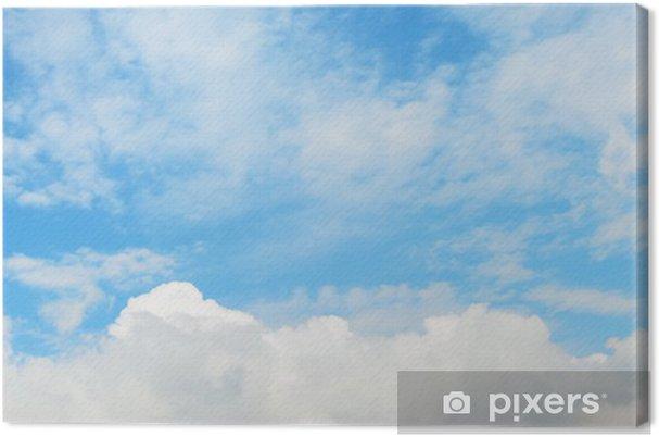 Tableau sur toile Doux nuages dans le ciel - Ciel