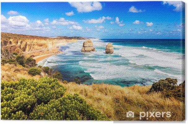 Tableau sur toile Douze Apôtres dans la mer turquoise le long de la Great Ocean Road en Austr - Thèmes