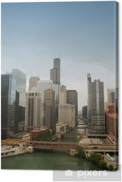 Tableau sur toile Downtown Chicago - Amérique