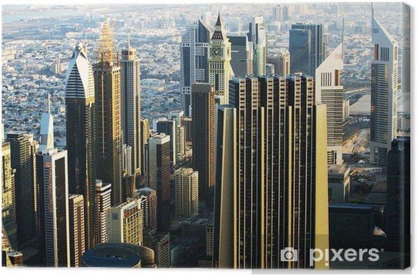 Tableau sur toile Downtown de Dubaï (Émirats arabes unis) - Moyen Orient