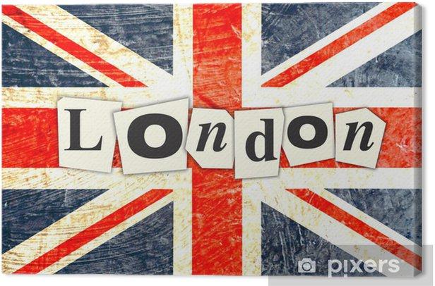 Tableau sur toile Drapeau anglais LONDRES - Drapeaux nationaux