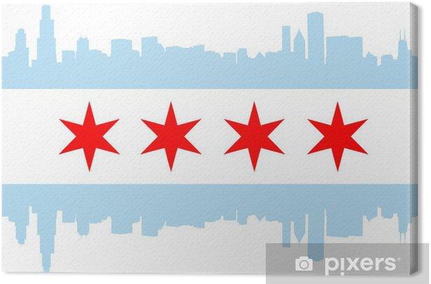 Tableau sur toile Drapeau de Chicago - Amérique
