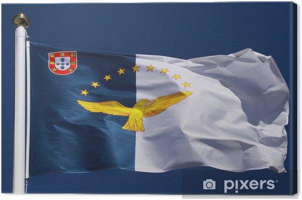 Tableau sur toile Drapeau de l'archipel des Açores - Vacances